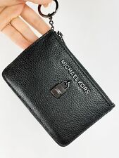 Michael Kors Adele 35h8tafp1l SM TZ Coin Pouch W/ ID Holder Leather BLK