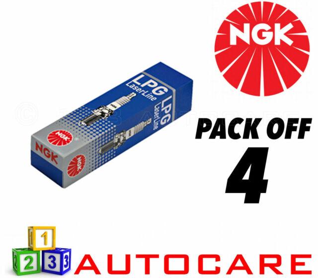 NGK LPG (GAS) Spark Plugs Citroen Xsara Picasso Fiat Scudo Ulysse #1640 4pk