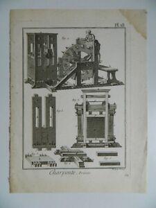 Gravur-XVIII-Platte-N-18-Metallgestell-Presse-Graviert-Von-Robert-Benard