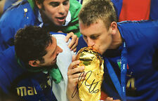 DANIELLE DE ROSSI SIGNED HUGE 12 X 18 ITALY WORLD CUP CHAMPION PHOTO+PHOTO PROOF