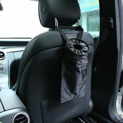 Portable Car Trash can Garbage Bin Bag Organizer for Vehicles Waterproof Black
