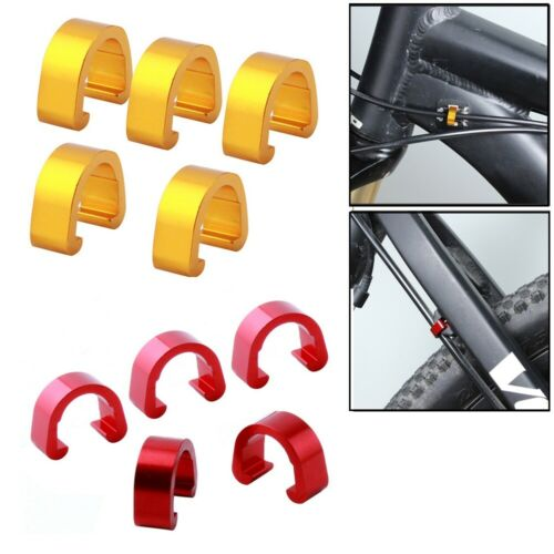 5//10X Bike Bicycle Cycle C-Clips Hose Buckle Brake Gear Cable Housing Guide