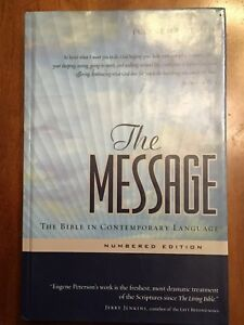 Details about The Message: The Bible in Contemporary Language: Numbered  Edition--