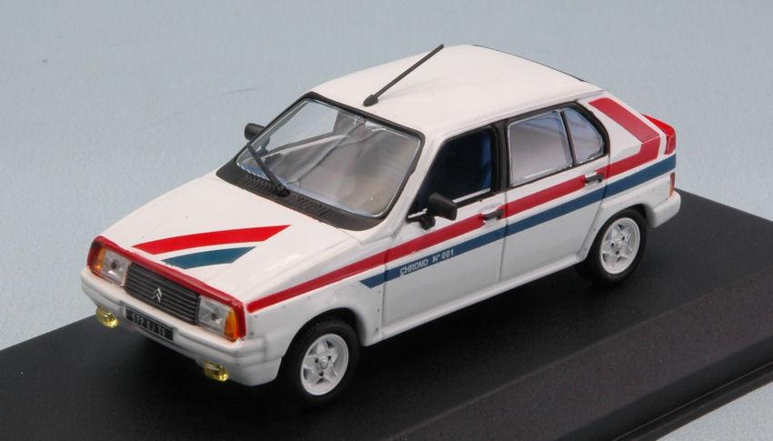 Citroen Visa II Chrono 1982 blanc   rouge   bleu 1 43 Model 150942 NOREV