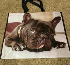 NWT French Bulldog Frenchie Reusable Shopping Tote Bag Adorable Large
