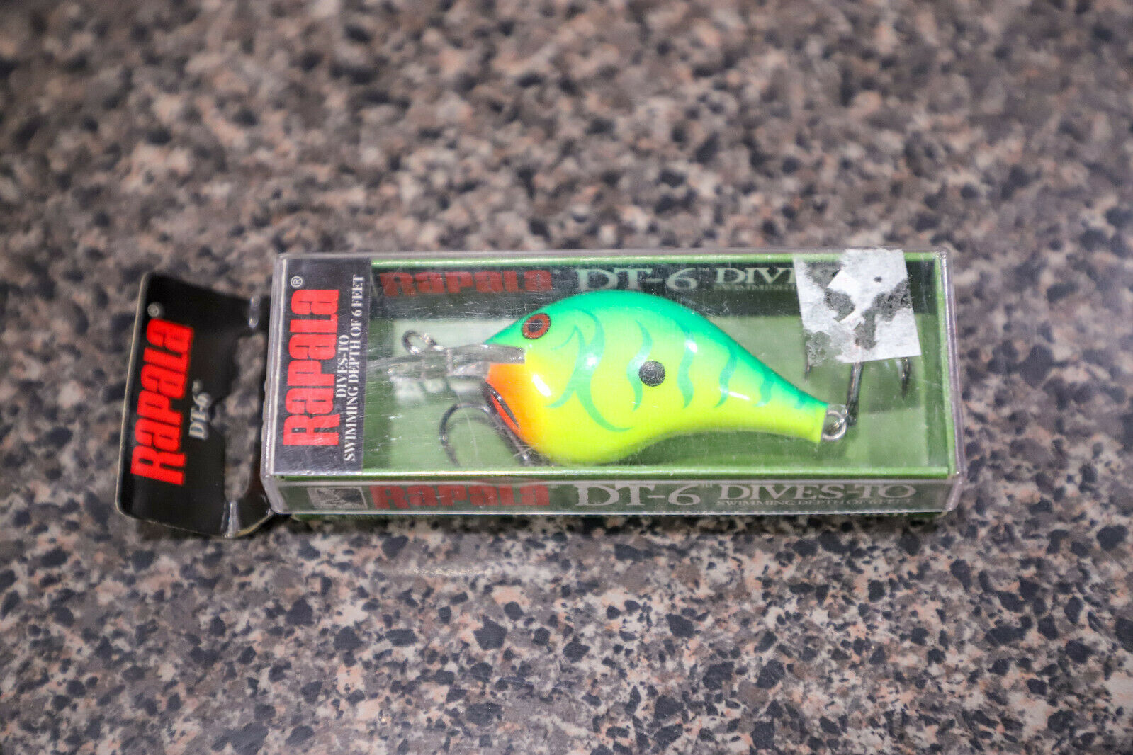 Rapala DivesTo DT6 GTR verde Tiger Fishing Lure Crankbait Very Rare Coloree DT6
