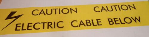 Heptape câble électrique souterrain Ruban de signalisation-Premium double-épaisseur 20 m