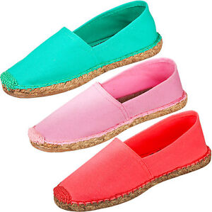 9a76b3dd4 Image is loading New-Ladies-Espadrilles-Womens-Sandals-Canvas-Flat-Summer-