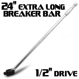 24 Quot Inch Breaker Bar 1 2 Quot Drive Socket Chrome Steel Long