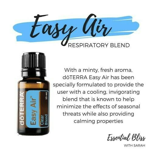 doTERRA Easy Air 15ml Cleanse Air Protect Family Essential Oil Aromatherapy