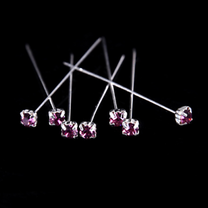 12 36 or 72 4cm PURPLE Quality Diamante Pins Luxury Crystal Diamonte 1.5 4mm w5CLDeSO-07205858-407794689
