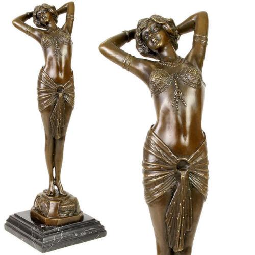 *ART DECO STIL1930 REVEIL BRONZE FIGUR einer orientalisch anmutenden TÄNZERIN