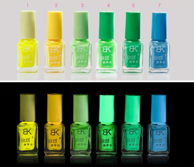 Glow in Dark UV Translucent Neon Fluorescent Luminous Nail Polish Varnish 7ml BK