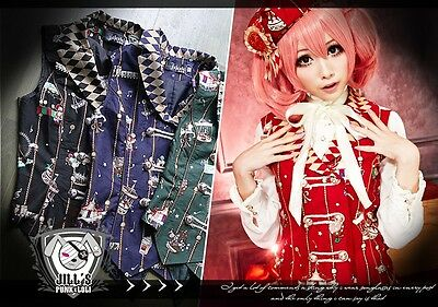 Lolita goth russian aristrocrat Golden Ferris wheel wonderland suit waistcoat R