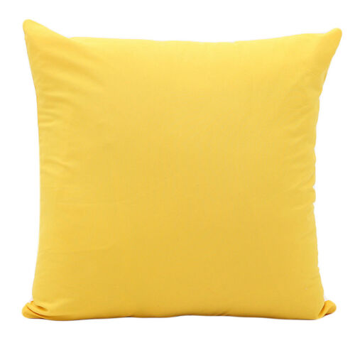 Handmade Plain Solid Throw Home Decor Pillow Case Bed Waist Sofa Cushion Cover