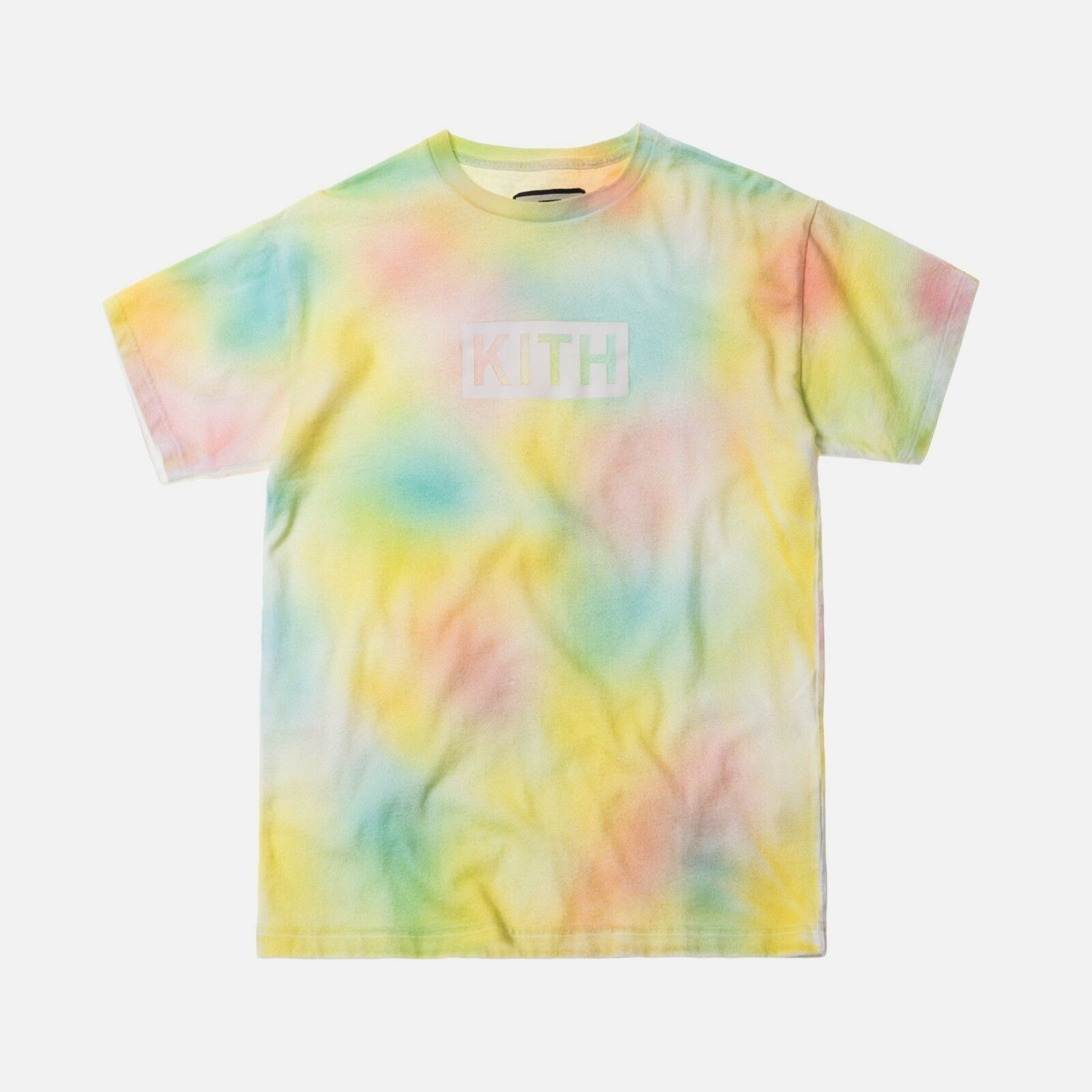 Kith Tie Dye Box Logo Tee Yellow Size L NEW 100% Authentic Limited