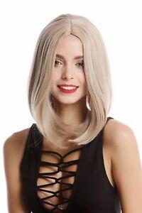 Details about Wig Women\u0027s Wig Long Bob Bob Shoulder Length Smooth Middle  Part Blonde \u0026 Grey