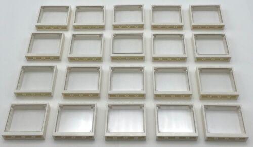 Lego 20 New Windows with Glass 1 x 4 x 3 White Window Panes Home City Pieces
