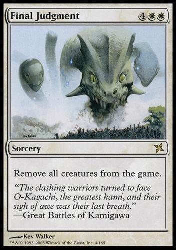 FINAL JUDGMENT MTG Betrayers of Kamigawa Rare Sorcery