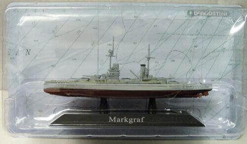 """modello finito Nuovo 1914 Nave di linea /""""S.M.S Mark Graf/"""" 1:1250 Atlas"""