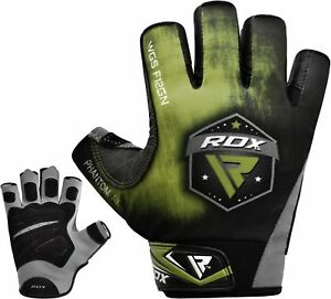 RDX-Guanti-Palestra-Fitness-Sollevamento-Pesi-Bodybuilding-Cinghie-F12-IT