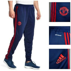Manchester-United-FC-adidas-Mens-Tracksuit-Training-Bottoms-Small-Track-Pants