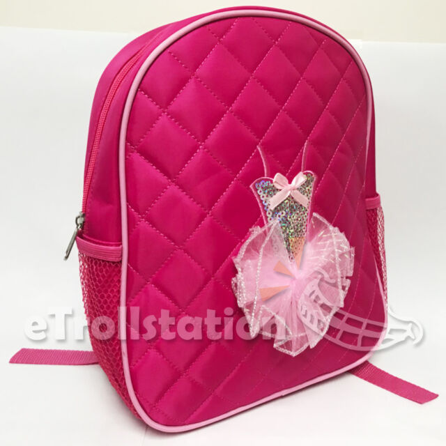 Lovely S Backpack Dance Bag Ballet Tutu Tap Quilted Dress Hot Pink Fuchsia