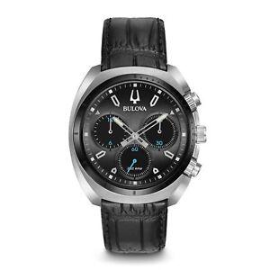 Bulova-98A155-Men-039-s-Curve-collection-Black-Quartz-Watch