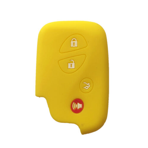Yellow Key Silicone Case Cover Jacket Skin Cover fit for Lexus GS430 GS300