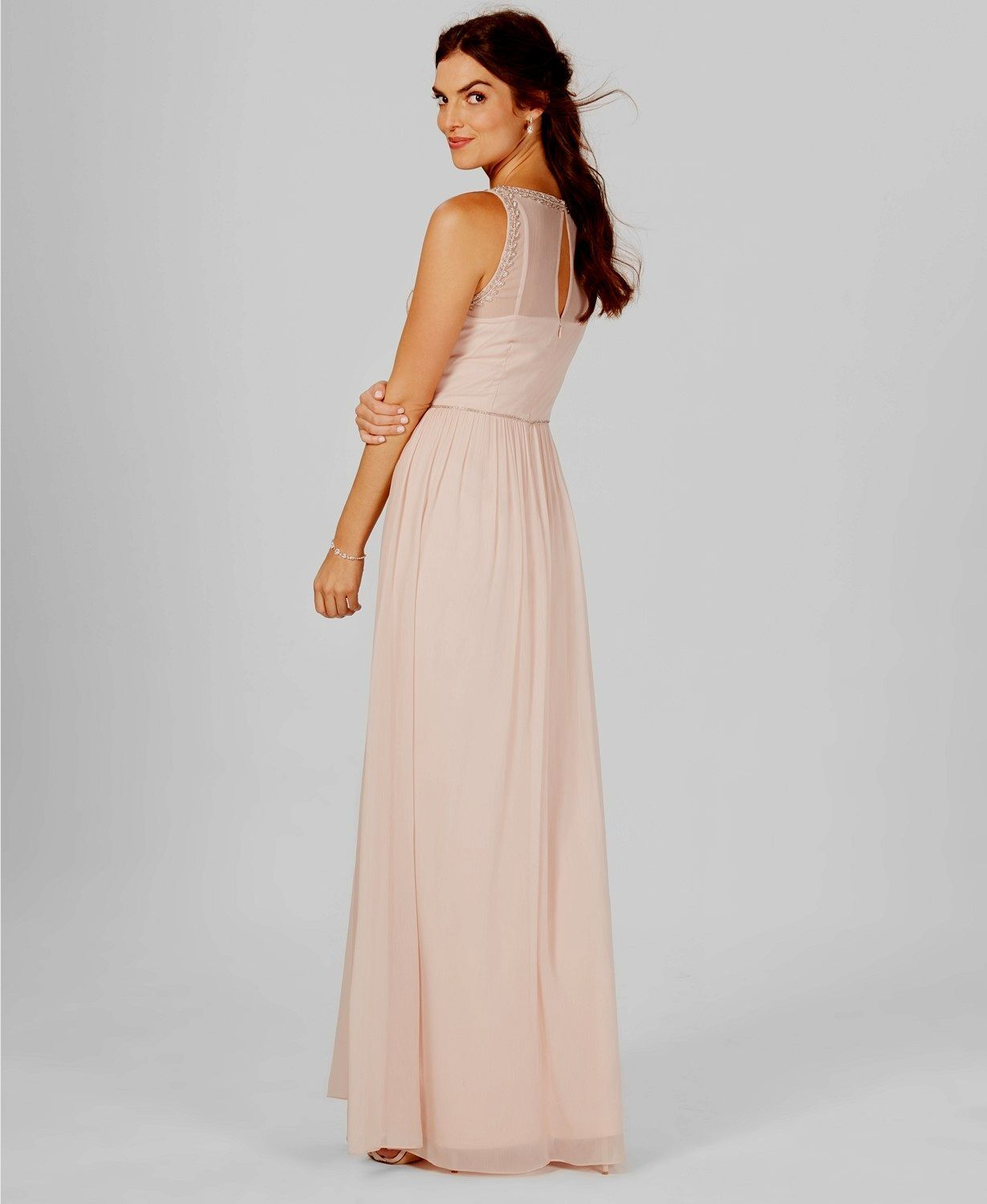 NWT  379 ADRIANNA PAPELL WOMENS PINK SLEEVELESS BEADED A-LINE A-LINE A-LINE GOWN DRESS SIZE 6 783c4a