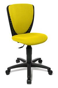 Kinderschreibtischstuhl  Kinder Schreibtischstuhl Bürostuhl Drehstuhl Topstar S´cool gelb B ...