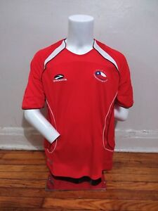 Details about Brooks L 2007 09 Chile Home Soccer Football Jersey