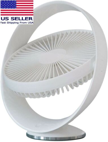 USB Rechargeable Lithium Operated Fan 3 Speeds 8-inch Modern Portable Desk Fan