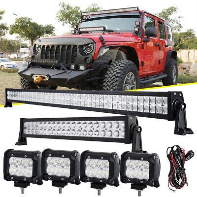 "22/"" 280W 4/"" Pods Cube CREE LED Work Light Bar Offroad For Jeep Wrangler TJ//YJ//JK"
