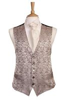 MENS AND PAGE BOYS SILVER AND PINK PAISLEY WEDDING DRESS SUIT WAISTCOAT £10