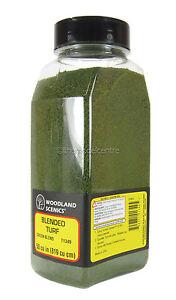 T1349 Woodland Scenics Blended Turf Green Blend Shaker 57.7 in³ TMC