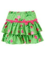 Gymboree Bright Tulip Green Tulip N Dot Skort 3 4 5 6 7 10 12
