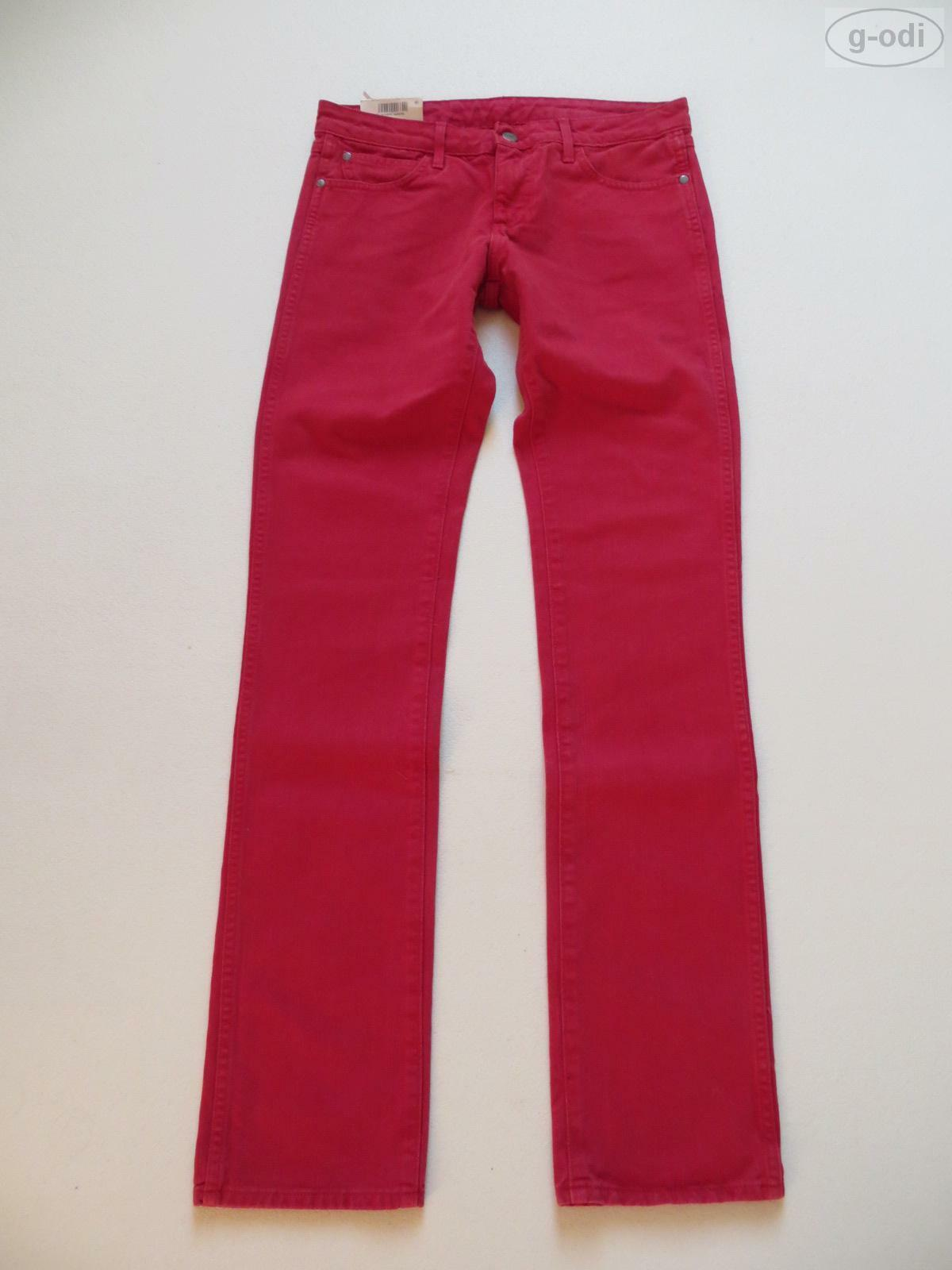 Wrangler LIA Slim Leg Jeans Hose W 29  L 34 rot NEU   rot Colourot Denim