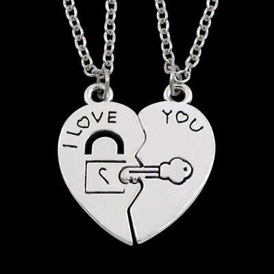 His /& Hers Matching Set My Heart Needs Your Key Couple Heart Lock Bracelet and Key Pendant Necklace Key and Lock Couple Jewelry in a Gift Box