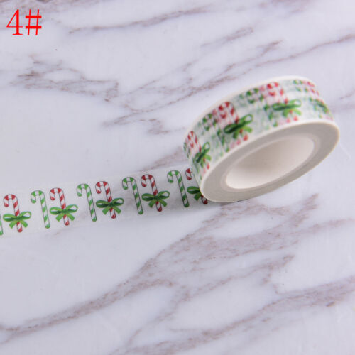 Christmas Washi Tape Paper Masking Sticky Adhesive Roll Craft Decoration