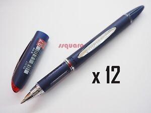 Blue 1 Pen 2 Refills Uni-Ball Jetstream SX-217 0.7mm Pigment Ink Ballpoint Pen