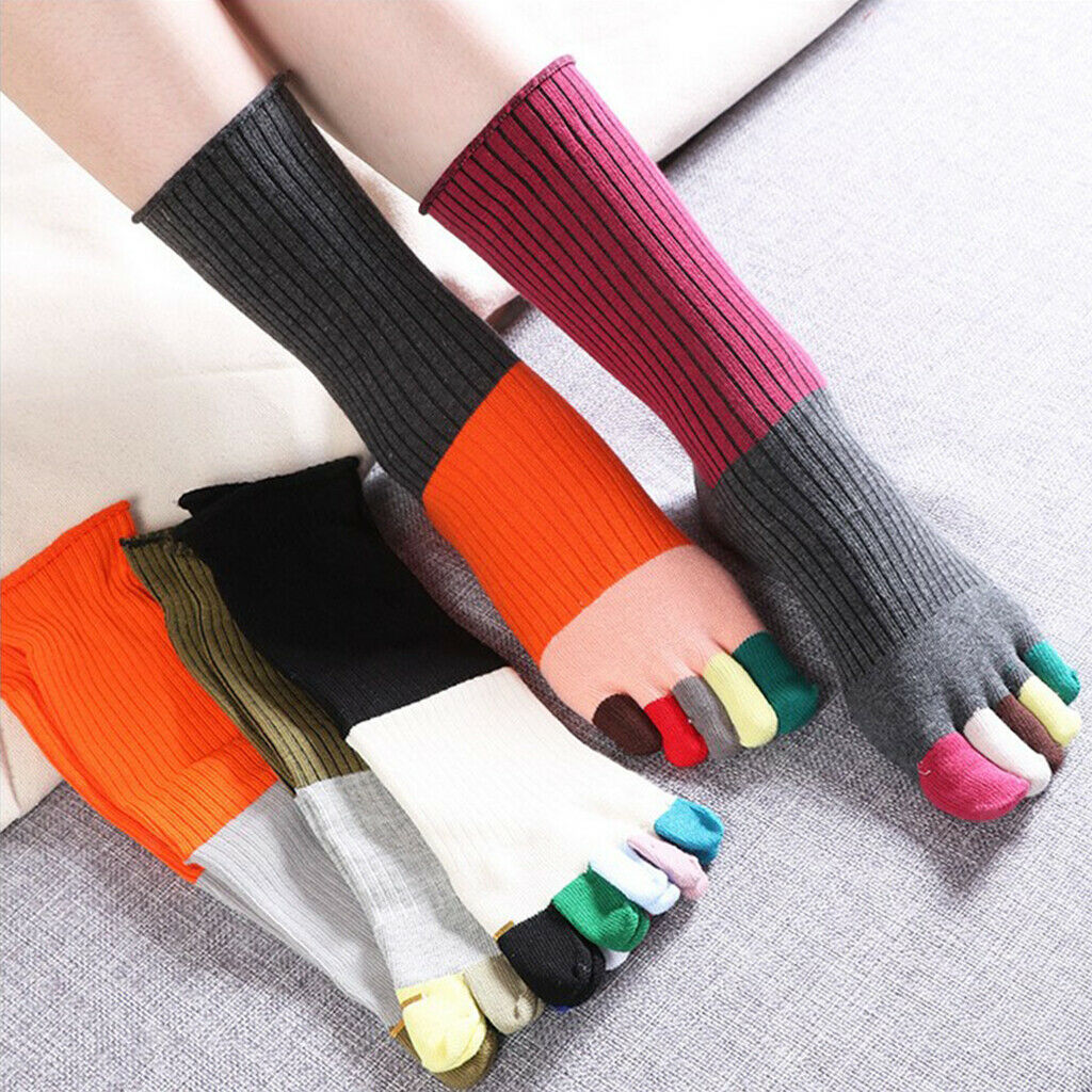 Mittlere Wadenlange Zehensocken Warme Baumwollsocken Für Männer Und Frauen