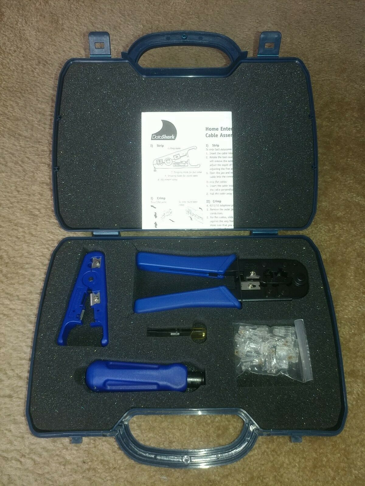 New DataShark Network Tool Kit With Case 70007 Data Shark
