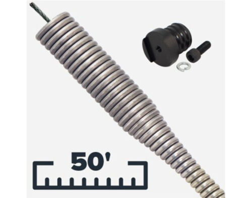 Spartan Type  50ft 1//4in Sewer Cable Bulb Head IC