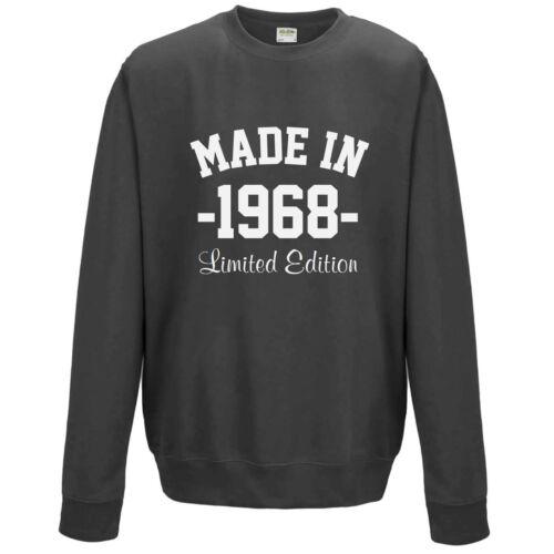 Personalised Made In Sweatshirt XS-3XL Customised Printed Birthday Year Gift Top