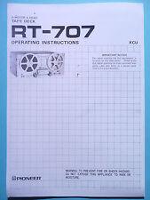 Operation Instructions-Bedienungsanleitung für Pioneer RT-707