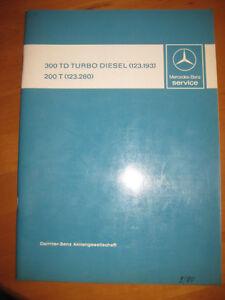 Mercedes-Service-W-123-T-Modelle-300-TD-Turbodiesel-123-193-200-T