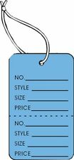 Garment Tag Small Dk Blue Color With String 1000 Tags Pack 125 X 1875
