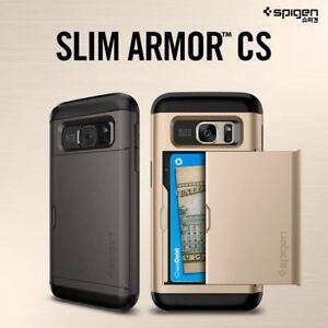 info for 63812 c56cf Details about Spigen Slim Armor CS Card Pocket Wallet Cover For Samsung  Galaxy S7 S7 Edge Case