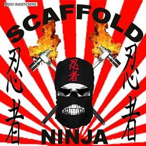 Scaffold ninja hard hat sticker, CC-16